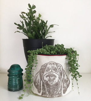 JoshuaByOak storage bin/planter holder