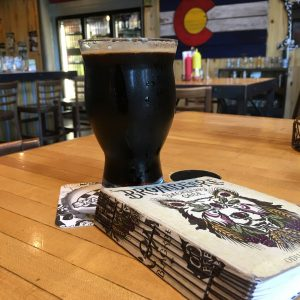 The Steel Toe Stout and my Brombeere-clad tasting notes book